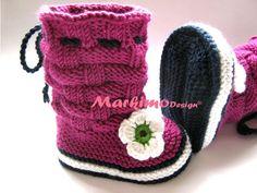 Головные уборы - Вязаный шлем младенца Emilie - дизайнер кусок markimo на DaWanda
