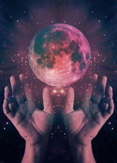 hands moon