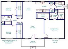 floor plans for 1000 sq ft. cabin | 500 to 799 Sq Ft Manufactured Home Floor Plans | Jacobsen Homes