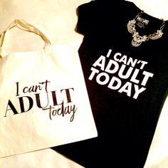 """✨07/12 HP✨Yep that's right """"I Can't Adult Today"""" """"I Can't Adult Today"""" Black V-Neck Tee! Another mood tee that's sure to make a statement! Order yours today & receive the """"I Can't Adult Today"""" Tote as a free gift 🎁 Please see last pic for measurements! Salt Lake Clothing Tops Tees - Short Sleeve"""