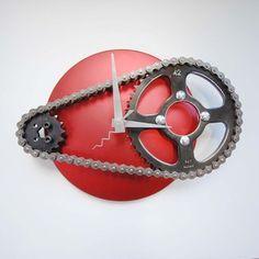 reCycle Clocks  Bike Parts Reborn As Clocks