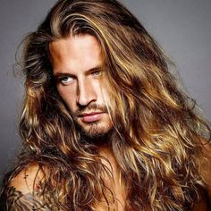 lange Haarmodelle - White Long Hairs With Half Classy Pony Click image for info. Hair And Beard Styles, Curly Hair Styles, Bobs Blondes, Peinados Pin Up, Blonde Guys, Good Looking Men, Gorgeous Men, Beautiful Men Faces, Hair Goals