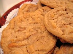 Peanut Butter Cookie Recipe - 1 Point Value - LaaLoosh...2 points per if you use Simply Jif and Unsalted butter