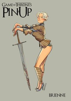 Game of Thrones pin up girl Brienne of Tarth Estilo Pin Up, Betty Boop, Pin Up Girls, Hot Girls, Pin Ups Vintage, Retro Vintage, Arte Game Of Thrones, Game Thrones, Mode Pin Up