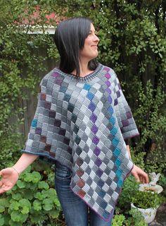 Ravelry: Entrelac Poncho pattern by Kaye Adolphson