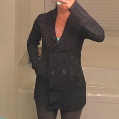Dark grey sweater. Perfect with skinniest or leggings and boots. Love Change Jackets & Coats