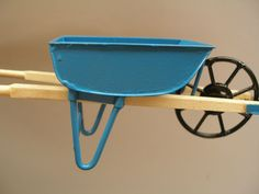 Dollhouse Miniature Wheelbarrow For Doll Garden-metal Tray-wood Handle