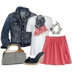 Cute spring outfit! I would wear those shoes all the time.