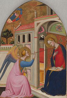 Tommaso del Mazza (Master of  St. Verdiana) (Italian, active 1377 - 1392), The Annunciation - about 1390 - 1395-  Los Angeles, The J. Paul Getty Museum