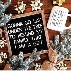christmas signs 31 Ideas For Funny Christmas Quotes Signs House Christmas Signs, Christmas Humor, All Things Christmas, Christmas Time, Funny Christmas Sayings, Christmas Tree Quotes, Family Christmas, Christmas Captions, Santa Christmas