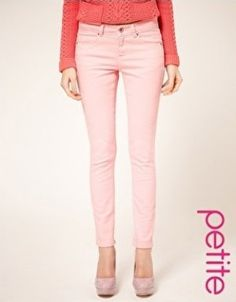ASOS Petite Pale Pink Skinny Jeans