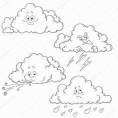 Počasí Weather Seasons, Teaching Aids, Childhood Education, In Kindergarten, Learn English, Doodle Art, Coloring Pages, Doodles, Animation