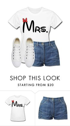 """""""Mrs."""" by writergirl2022 ❤ liked on Polyvore featuring Converse"""
