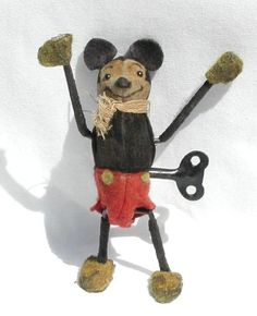 Vintage wind-up Mickey Mouse Toy