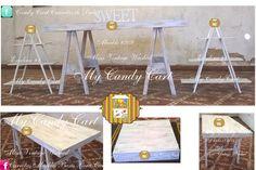 Mueble #209 Mesa Vintage Washed, desmontable y Plegable. Buscanos en Facebook: Candy Cart Carretas de Dulces. estamos en Guadalajara Jal. Méx. cel 3331151614 Renta y Venta.  Guarda todo dentro de ella. Olvidate de como te llevarias una mesa grande a tu evento!! despreocupate de espacio que te puede quitar una mesa grande, esta mesa es de gran capacidad, pero con su diseño e Ingenio que fue construida, la puedes llevar a cualquer evento. Contamos con mas de 1,000 diseños !!!