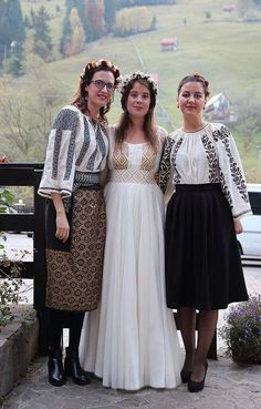 Traditional Wedding Dresses, Traditional Outfits, Romanian Wedding, Eslava, Orthodox Wedding, Wedding Dress Sleeves, Indian Outfits, Designer Dresses, Lace Skirt