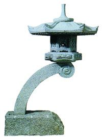 Rankei Stone Granite Japanese Lantern-The Rankei Japanese Stone Lantern is hand carved of granite which lasts forever in any climate. The Rankei Stone Lantern is easy to handle because it ships in stackable pieces that simply set on each other;