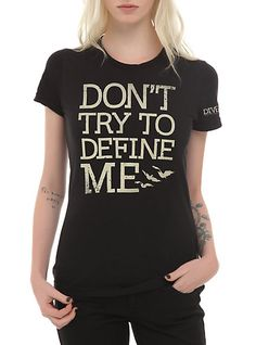 Divergent Don't Define Me Girls T-Shirt $16.88 from www.hottopic.com/hottopic/PopCulture/Movies/Divergent.jsp