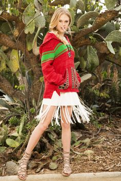 Throw a blanket-print pullover a fringe dress for a carefree vibe that's perf for a beach bash or music fest.   - Seventeen.com
