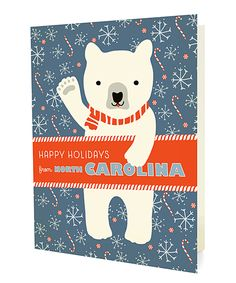 Look what I found on #zulily! North Carolina Polar Bear Folded Holiday Card - Set of 10 by Night Owl Paper Goods #zulilyfinds