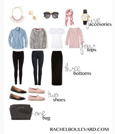 38 Trendy Travel Outfit Packing One Suitcase Capsule Wardrobe Reise-Outfits
