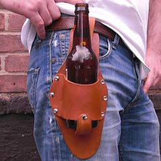 {The Plano Holstar Medium Brown} Holstar - omg, this is brilliant! I'd use it for something other than beer, but I know quite a few people who'd sling their beer bottle in there!