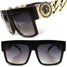 df57f89d15e7 Gradient Aviator Black 100% UV400 Sunglasses for Men | eBay. Versace ...
