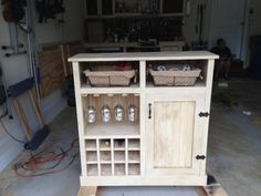 **1** another idea for Mom's piece....Shanty Console turns Wine Cabinet   Do It Yourself Home Projects from Ana White