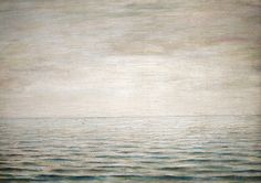 A Lowry seascape 'The Sea' (1963) hanging in Glasgow's Kelvingrove Art Gallery