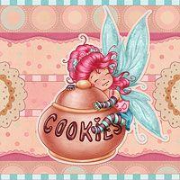 The Fairy of the Cookies - Digital Stamp The Paper Shelter, digital stamps, scrapbooking, crafts, dodles, cliparts, images resources, craft supplies & Digital Papers for all your needs.
