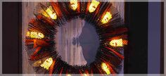 Halloween Ghost Light Wreath