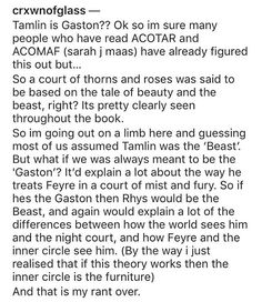 Yessss !! Thank you for pointing this out ! Tamlin is 100% gaston
