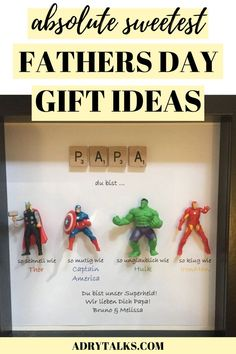 Looking for some fathers day gifts for your dad, brother, husband, friend, or grandpa? Here are some really cute and sweet fathers day gift ideas that he's sure to love. They can be DIY or to buy, and are perfect for father's day!
