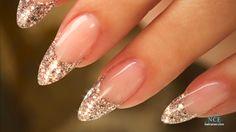 Beautiful almond shaped acrylic nails