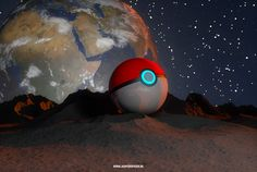 Project:Pokeball in 3d Software:Maxon Cinema 4d Client:None