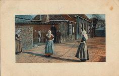 pc meisjes touwtje springen Zeeland 1910