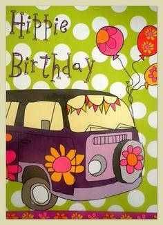 Free Hippie Birthday eCard