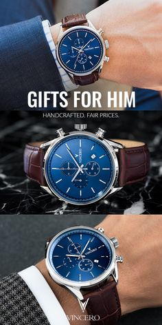 Luxury watches for the modern gentleman Mode Masculine, Perfect Gift For Him, Gifts For Him, Cool Watches, Watches For Men, Men's Watches, Wrist Watches, Latest Watches, Casual Watches