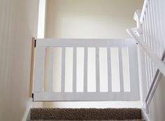 Make your own DIY custom baby gate to install at the top of stairs or in hallways. These baby gates can be customized to fit your space & match your decor. Wood Baby Gate, Wooden Stair Gate, Baby Gate For Stairs, Diy Baby Gate, Diy Gate, Staircase Gate, Staircase Remodel, Custom Baby Gates, Best Baby Gates