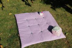 Tapis de jeux, édredon en coton violet et rose avec des ronds et gris unis : Jeux, peluches, doudous par kidyllik