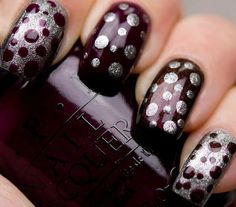 Polka Dots OPI  #nails #darknails #polishlover  bellashoot.com