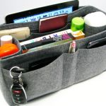 Felt organizer insert for work bag.  Multiple pockets, including one that fits iPad.  Variety of colors & sizes.