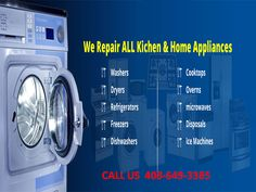 Need refrigerator & washing machine repair service in San Jose California? Work with the appliances repair experts. Call now and get services like never before. Kitchen Aid Appliances, Bosch Appliances, White Appliances, Commercial Appliances, Orthodontic Appliances, Stackable Washer And Dryer, Furniture Cleaner, Air Conditioning Units, Appliance Repair