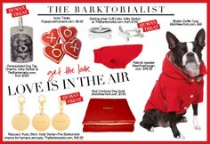 Love Is In The Air | #AsSeenIn www.TheBarktorialist.com | Perfect Presents for Pets and the People Who Love Them.
