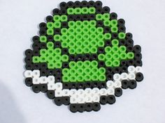 Super Mario Brothers Turtle Shell Perler Bead Creation