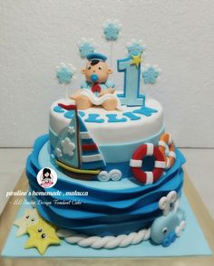 BB Sailor Design Fondant Cake