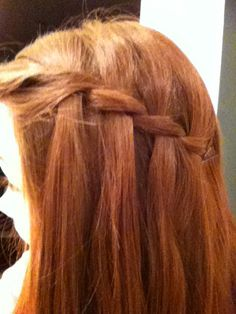 Two strand waterfall braid soo easy