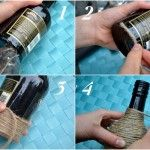DIy upcycled bottles as home decors