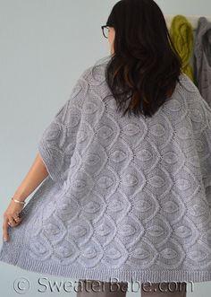 au tricot un boléro XXL très confortable - La Grenouille Tricote