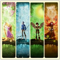 ~Rise Of the Brave Tangled Dragons~ Spring, Winter, Summer, Fall Love it